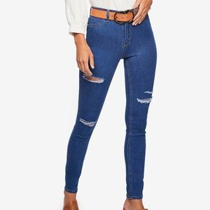 Free People Women's Destroyed Long Skinny Jeans